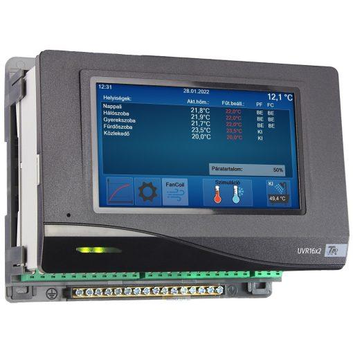 UVR16x2S szabadon programozható szabályozó és vezérlő (kalapsines változat)