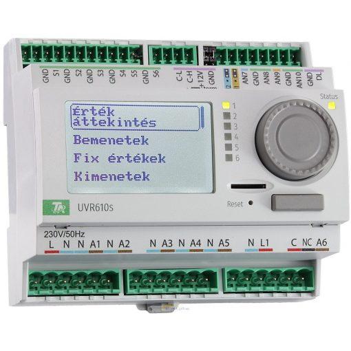 UVR610S-DC szabadon programozható szabályozó és vezérlő - 24V DC kimenettel