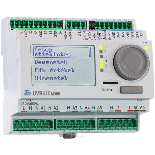 UVR610S-MODB szabadon programozható szabályozó és vezérlő - Modbus csatlakozóval - kijelzővel
